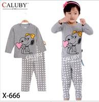 X-666 pajamas clothes sets fashion cartoon elsa anna olaf kids baby girls children pajamas clothing sets spring autumn clothes
