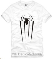 free shipping cotton tee for 90--150cm Kids Tee Spiderman T shirt America Super Hero Short sleeve t-shirt 100% cotton 6 color