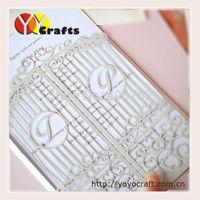Fancy elegant wedding card laser cut european style wedding card