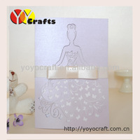 Beautiful design lovely bride wedding cards for happy party