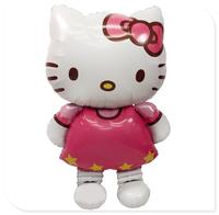 New Hello Kitty cat Foil Balloon Birthday merry Christmas Party Decoration Cartoon party Balloons hellokitty kitty Toys 45inch