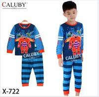 X-722 pajamas clothes sets fashion cartoon elsa anna olaf kids baby girls children pajamas clothing sets spring autumn clothes