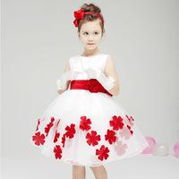 2015 Europe Flower Girl Dresses For Weddings Fantacy White Lace Tutu Vestidos One Pcs Baby Girls Evening Dress c20