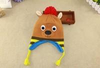 2015 New Kids Winter Cap Baby Kangaroo Cap Original order Carton Cap 3 size 48cm,50cm,52cm