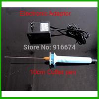 Free shipping Foam electric knife hot cutter 10cm  Hot Knife Styrofoam Cutter Pen+ Electronic Voltage Transformer Adaptor