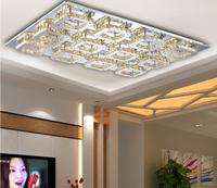 modern 12 head LED K9 crystal aisle lights corridor porch lamp square ceiling lamps led ceiling light XCV-2580