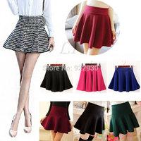 Fashion New 2014 Autumn Winter Short Mini Skirts Woman High Waist Woolen Skirt Female Pleated Skirt  For Woman 12 styles