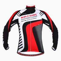 WOLFBIKE Cycling jersey bicicleta mountain bike maillot ciclismo Bicycle Clothing Thermal Fleece Long Sleeves Jersey