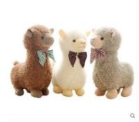 stuffed toy 40cm bowtie Alpaca plush toy birthday gift p3067