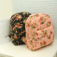 Canvas Vintage Flower Printed Women Bolsas Mochilas Femininas Casual Women Preppy School Backpacks Fashion Laptop Backpack