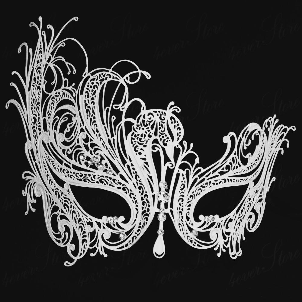 Black And White Masquerade Ball Masks White Mask Masquerade