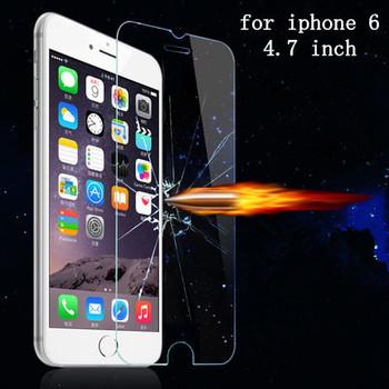 Высокое качество 9 H жк ясно передняя закаленное стекло защитная пленка для iPhone ...