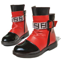 Child shoes female male child 2014 winter baby snow boots martin boots knee-high plus velvet