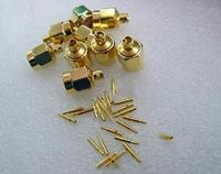 100pcs/lot SMAJ Connect With Semi-flexible Wire RG405 Copper Gilt Connector