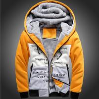 Hot sale winter jacket Men Long Korean mens windbreaker thicken plus velvet warm hooded detachable coat jackets outwear