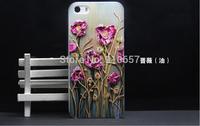 rosebush style oil painting Design hard phone case for iphone  6 6 plus