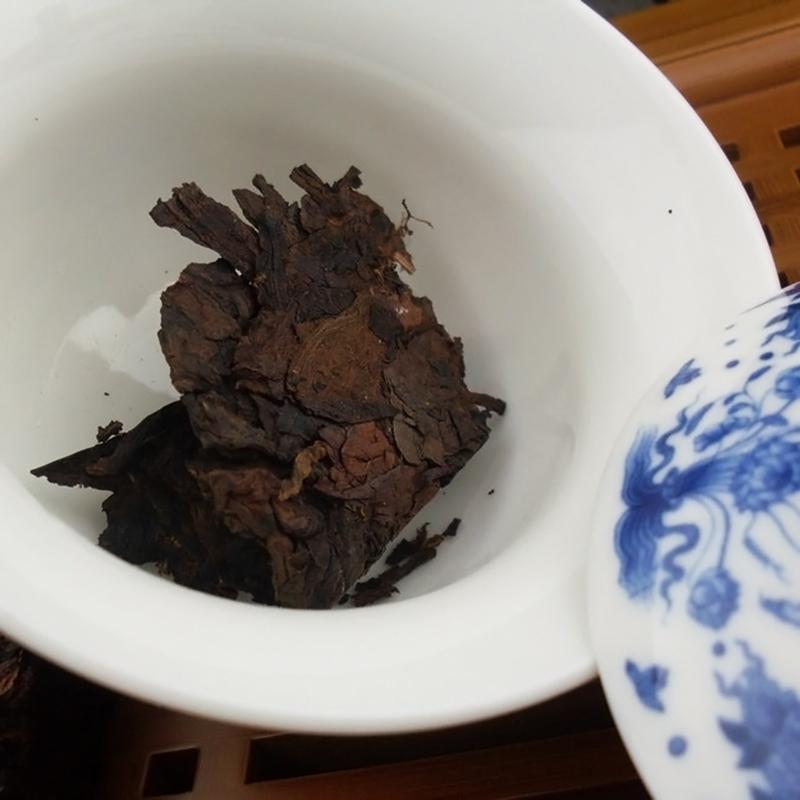 Yunnan JingMai Aged Tree Jujube Aroma Puer Tea Brick 1990s Ripe 250g Brick Tea ZH206