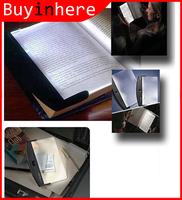 Portable Booklight Clip LED Light Flat Plate Panel Book Reading Lamp Paperback Night Car Travel