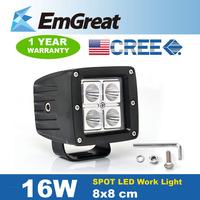 16W IP67 6000K CREE LED Light Bar Work Light Bar Indicators Spot Beam For boat Offroad Driving Fog Truck Car UTE ATV SUV Light