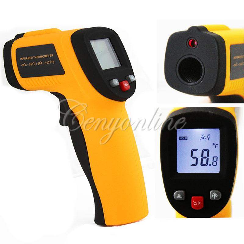Гаджет  GM550 Digital LCD Back IR Laser Infrared Thermometer Themperature Measurement Electronic Point Gun Non-Contact -50 To 550 degree None Инструменты