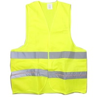 Construction Reflective Vest Safety Clothing W/ 9-LED Red Light - Yellow (Size XL / 2 x CR2032)