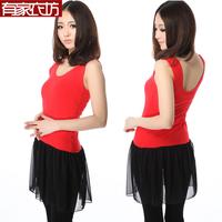 Free shipping new large size plus fertilizer cotton gauze double U stitching vest skirt dress bottoming shirt