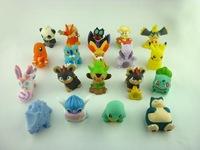 100pcs/lot Mini  Pokemon Figures Hand Puppet Toys