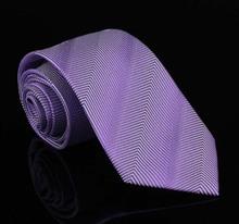Purple Firm Striped Silk Ties Neckties For Men Gentlemen Business Suit Corbatas Gravatas Masculinas Neckwear Gifts