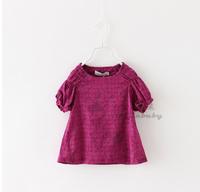Girls Fashion Summer Floral Print T-Shirt New Casual Short Sleeve O-Neck Children High Quality Cotton Clothing 6pcs/LOT