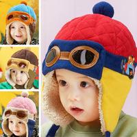 MZ006 2014 Fashion Winter Autumn child hat baby boy&girls ear protector cap pocket hat  pilot cap kids cap 1-4 year