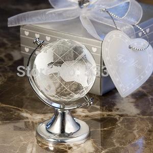 Big Wholesales+Choice Crystal Globe Favor Delightful Globe Wedding Favor Crystal Paperweight+80pcs/lot+FREE SHIPPING(China (Mainland))