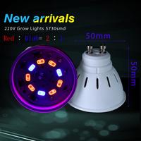 gu10 LED Grow lamps 5730smd led bulb  Flower plant bulbs fHydroponics system 220v 230v 240v grow box Full spectrum