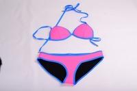 2015 hot selling NEOPRENE BIKINI Superfly Swimsuit Neoprene bikinis one set include top and bottom 405