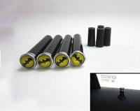 Car Styling Modified Metal Carbon Fiber Bat Batman Car Door Lock Pin