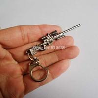 Mini Counter Strike Rifle Sniper Gun AWM Keychain & CS CF Shot Gun Keys Ring Pendant Charms Collection Wholesale