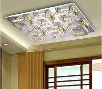 modern 6 head LED K9 crystal aisle lights corridor porch lamp square ceiling lamps led ceiling light