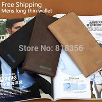 Free Shipping! 2015 new  Men's Fashion  Wallets High Quality Long Purse Business Bag Men's Purse Business Suit Wallet