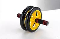 Ab wheel abdominal wheel round thin waist roller two-wheel ab fitness equipment mute