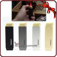 HONEST High Quality Cigarette Smoke Windproof Butane Gas Jet  Hot Pink Flame Lighter