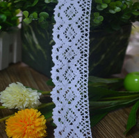 200yard/lot lace Tape 3.8cm Wide  White Crocheted Cotton/Lace Trim for Scrapbooking Wedding Decoration Lace Trims Dz132