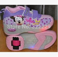 2015 new children's Heelys Boys / Girls roller shoes Heelys automatic button Flash EUR size 29-30-32-34-36