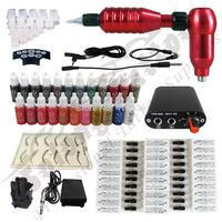 Hawk Rotary Tattoo Machine Hot-sale Gun Kit Permanent Makeup Pen +Power Supply+50 pcs Hawk Tattoo  Needles+Makeup ink TK113-2