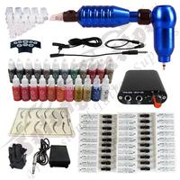 Hawk Rotary Tattoo Machine Hot-sale Gun Kit Permanent Makeup Pen +Power Supply+50 pcs Hawk Tattoo  Needles+Makeup ink TK112-3