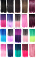 20% OFF 2015 New Fashion Curly 3/4 Full Head Clip in Hair Extensions One Piece 5 Clips A2 Christmastwo design Multi-color
