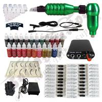 Hawk Rotary Tattoo Machine Hot-sale Gun Kit Permanent Makeup Pen +Power Supply+50 pcs Hawk Tattoo  Needles+Makeup ink TK113-4