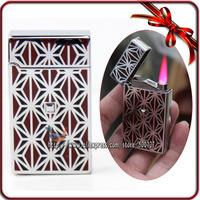 Designer Jet Hot Pink Flame Torch Windproof Butane Cigar Cigarette Touch Sensor Lighter