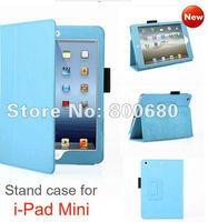 Retail Leather Folio Case For iPad Mini 7.9'' For Mini Ipad Case Free Shipping