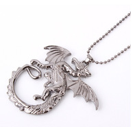 The hobbit Smaug desolate move show cool dragon fantasy bullet chain pendant necklace gift listYP0039