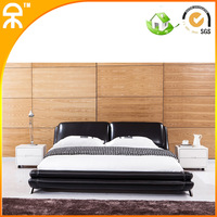 (1 bed +2 night stand +1 matrress /1lot)1.8m chinese leather bedroom set  #CE-C752