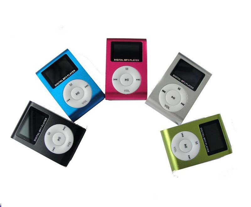 Free Shipping Design Digital LED Light Flash Mini MP3 Player Music Player Mini Clip MP3 With TF Card Slot Optional Support 16GB(China (Mainland))